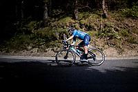 Enric Mas (ESP/Movistar) in the descent of the Col de Beixalis<br /> <br /> Stage 15 from Céret to Andorra la Vella (191km)<br /> 108th Tour de France 2021 (2.UWT)<br /> <br /> ©kramon