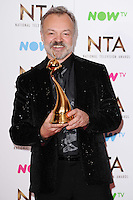 Graham Norton<br /> in the winners room at the National TV Awards 2017 held at the O2 Arena, Greenwich, London.<br /> <br /> <br /> ©Ash Knotek  D3221  25/01/2017