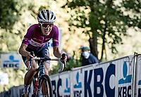 Lizzie Deignan (GBR/Trek-Segafredo) up the Kemmelberg<br /> <br /> 9th Gent-Wevelgem in Flanders Fields 2020<br /> Elite Womens Race (1.WWT)<br /> <br /> One Day Race from Ypres (Ieper) to Wevelgem 141km<br /> <br /> ©kramon