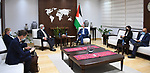 Palestinian Prime Minister Mohammed Ishtayeh meets with Norwegian Special Envoy for the Peace Process John Hensen, in the West Bank city of Ramallah, on September 1, 2021. Photo by Prime Minister Office
