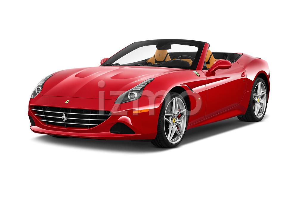 2017 Ferrari California-T 2 Door Convertible Angular Front stock photos of front three quarter view