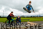 Billy Downes, Brian Harmon and Justin McCarthy at the site of the new skate park in Tralee.