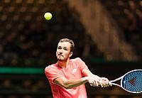 Rotterdam, The Netherlands, 13 Februari 2019, ABNAMRO World Tennis Tournament, Ahoy,  first round singles: Daniil Medvedev (RUS)  <br /> Photo: www.tennisimages.com/Henk Koster