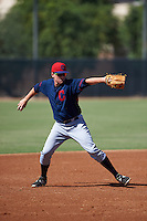 Cleveland Indians Nate Winfrey (32) during an instructional league game against the Milwaukee Brewers on October 8, 2015 at the Maryvale Baseball Complex in Maryvale, Arizona.  (Mike Janes/Four Seam Images)