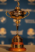 The Ryder Cup during the Team Europe Ryder Cup Press Conference at the Wentworth Club, Virginia Waters, England. Picture:  David Lloyd / www.golffile.ie