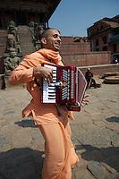 Hari Krishnas at Bhaktapur Nepal