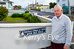 Cllr: Robert Beasley standing at the entrance to  Doon Bay Road in Ballybunion, and he wants to revert to its original name 'Puicíns'