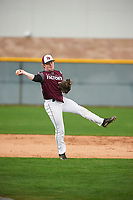 Kevin Collyar (5) of Oklahoma Christian Acad. High School in Edmond, Oklahoma during the Under Armour All-American Pre-Season Tournament presented by Baseball Factory on January 15, 2017 at Sloan Park in Mesa, Arizona.  (Zac Lucy/MJP/Four Seam Images)