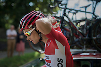 water duty for trainee Michael Goolaerts   (BEL/Lotto-Soudal)<br /> <br /> Brussels Cycling Classic 2016