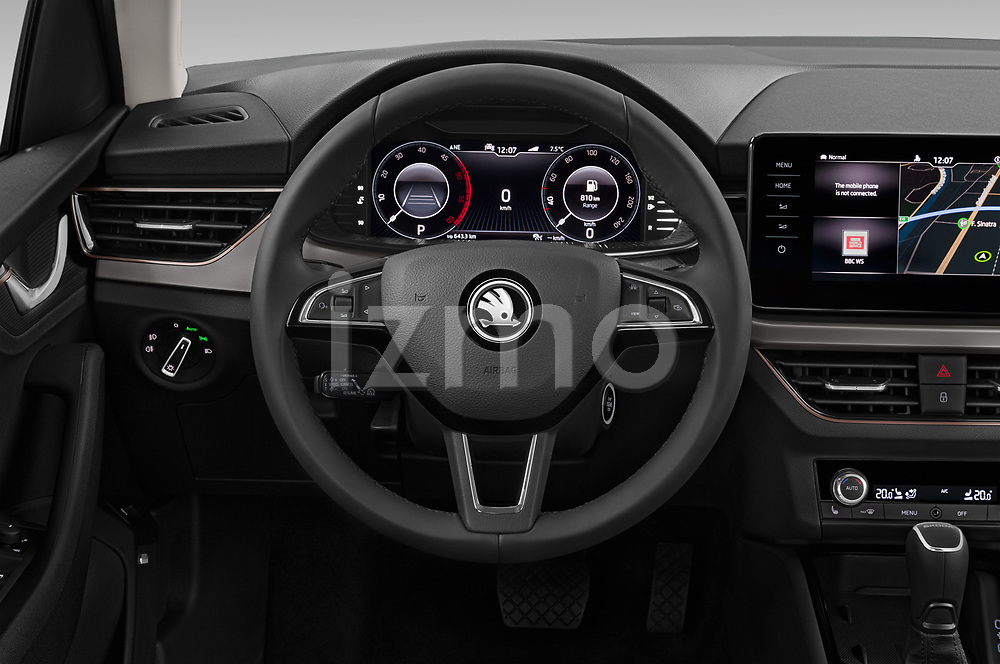 Car pictures of steering wheel view of a 2020 Skoda Kamiq Style 5 Door SUV