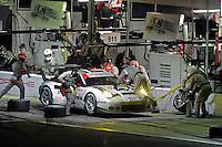 28-31 January, 2016, Daytona Beach, Florida USA<br /> 911, Porsche, 911 RSR, GTLM, Nick Tandy, Patrick Pilet, Kevin Estre makes a pit stop.<br /> ©2016, F. Peirce Williams