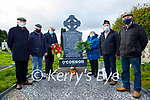 The grandchildren of John O'Connor who was killed by the Black and Tans on the 14th December 1920 at his grave in Kilsarcon on Saturday. L to r: Patrick O'Connor, Mary Ann Healy, John Joe O'Connor, John Michael Howard, David and Pat O'Connor.