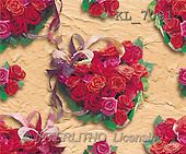 Interlitho, GIFT WRAPS, paintings, heart of red roses(KL7091,#GP#) everyday