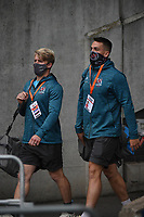Saturday 5th September 2020 | PRO14 Semi-Final<br /> <br /> Rob Lyttle and James Hume arrive for the Guinness PRO14 Semi-Final between Edinburgh and Ulster at the BT Murrayfield Stadium Edinburgh, Scotland. Photo by David Gibson / Dicksondigital