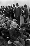 Bruce Kent, Greenham Common womens peace camp. Kent is a British political activist and a former Roman Catholic priest. Active in the Campaign for Nuclear Disarmament CND. 1980s 1983 UK