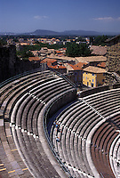 France, theatre, Orange, Vaucluse, Provence, Europe, Theatre Antique a Roman theater in the city of Orange.