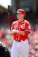 Cincinnati Reds outfielder Jay Bruce #32 during a game against the Miami Marlins at Great American Ball Park on April 20, 2013 in Cincinnati, Ohio.  Cincinnati defeated Miami 3-2 in 13 innings.  (Mike Janes/Four Seam Images)