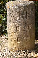 mile stone sauternes bordeaux france