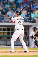 Matt Davidson (22) of the Charlotte Knights at bat against the Louisville Bats at BB&T Ballpark on June 26, 2014 in Charlotte, North Carolina.  The Bats defeated the Knights 6-4.  (Brian Westerholt/Four Seam Images)