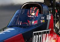 May 18, 2014; Commerce, GA, USA; NHRA top fuel driver J.R. Todd during the Southern Nationals at Atlanta Dragway. Mandatory Credit: Mark J. Rebilas-USA TODAY Sports