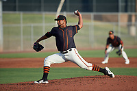 AZL Giants Black relief pitcher Sonny Vargas (60) during an Arizona League game against the AZL Giants Orange on July 19, 2019 at the Giants Baseball Complex in Scottsdale, Arizona. The AZL Giants Black defeated the AZL Giants Orange 8-5. (Zachary Lucy/Four Seam Images)
