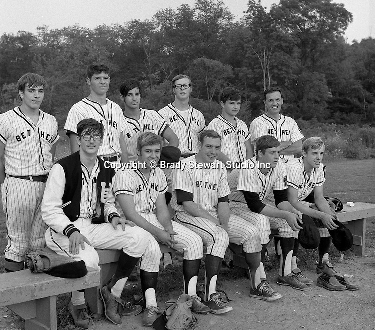 Bethel Park PA:  The BP American Legion Region Champion - 1970.  This team only had 10 players and found a way to win all but one game on the way to playing in the American Legion State Championship in Allentown PA. The team included; Front Row, Lee Patch (P), Skip Uhl (RF), Bob Campbell (2B), Bob Purkey Jr (P&1B), Bob Colligan (SS), Back Row, Mike Stewart (C), Gary Biro (LF), Craig Balmford (3B), Paul Hauck (1B & OF), Jack Snyder (CF), Coach Colligan.