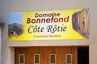 the winery domaine g bonnefond ampuis rhone france