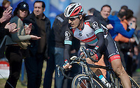 111th Paris-Roubaix 2013..Fabian Cancellara (CHE) at Carrefour de l'Arbre..