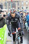 Fabian Cancellara (SUI) Radioshack Leopard at the sign on before the start of the 104th edition of the Milan-San Remo cycle race at Castello Sforzesco in Milan, 17th March 2013 (Photo by Eoin Clarke 2013)