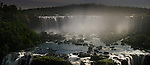 Iguazu Falls by moonlight (also Iguazú Falls, Iguassu Falls or Iguaçu Falls) on the Iguasu River, Brazil / Argentina border. Photographed from the Brazilian side of the Falls. State of Paraná, Brasil.
