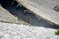 Green Jersey / points leader Mark Cavendish (GBR/Deceuninck - Quick Step) rushing down the Mont Ventoux<br /> <br /> Stage 11 from Sorgues to Malaucène (199km) running twice over the infamous Mont Ventoux<br /> 108th Tour de France 2021 (2.UWT)<br /> <br /> ©kramon