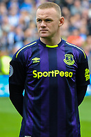 Wayne Rooney of Everton (10) and team mates during the Premier League match between Brighton and Hove Albion and Everton at the American Express Community Stadium, Brighton and Hove, England on 15 October 2017. Photo by Edward Thomas / PRiME Media Images.