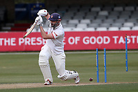 Nick Browne of Essex is bowled out by Chris Rushworth during Essex CCC vs Durham CCC, LV Insurance County Championship Group 1 Cricket at The Cloudfm County Ground on 16th April 2021