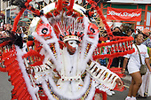 Flamboyan mas band parade during children's day at Notting Hill Carnival