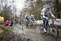 CX world champion Mathieu Van der Poel (NED/Alpecin-Fenix) on his way to winning the 2021 Flandriencross Hamme (BEL)<br /> <br /> ©kramon