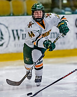 1 December 2018: University of Vermont Catamount Defender Anna Erickson, a Sophomore from Stillwater, MN, in third period play against the University of Maine Black Bears at Gutterson Fieldhouse in Burlington, Vermont. The Lady Cats defeated the Lady Bears 3-2 in the second game of their 2-game Hockey East series. Mandatory Credit: Ed Wolfstein Photo *** RAW (NEF) Image File Available ***