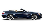 Passenger side view of a 2013 Mercedes SL Class with the top down.