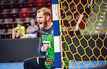 Schrei: Johannes Bitter (TVB Stuttgart #1) ; BGV Handball Cup 2020 Halbfinaltag: TVB Stuttgart vs. HBW Balingen-Weilstetten am 11.09.2020 in Ludwigsburg (MHPArena), Baden-Wuerttemberg, Deutschland<br /> <br /> Foto © PIX-Sportfotos *** Foto ist honorarpflichtig! *** Auf Anfrage in hoeherer Qualitaet/Aufloesung. Belegexemplar erbeten. Veroeffentlichung ausschliesslich fuer journalistisch-publizistische Zwecke. For editorial use only.