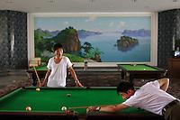 Koreans play billiards in Pyongyang, North Korea (DPRK) on 15 August 2007.