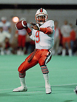 Roy Dewalt BC Lions quarterback 1987. Copyright photograph Scott Grant