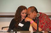 Washington DC, USA. Chico Vive conference, 5th April 2014. Suzannne Pelletier and Norman Jiwan.
