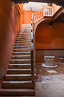 Stairs in Venice, Italy. These stairs are in the home of a famous play writer that lived in Venice.
