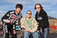 Richard Lawson recieves his Lakeside Hammers rider of the month award - Lakeside Hammers vs Wolverhampton Wolves, Elite League Speedway at the Arena Essex Raceway, Pufleet - 04/07/14 - MANDATORY CREDIT: Rob Newell/TGSPHOTO - Self billing applies where appropriate - 0845 094 6026 - contact@tgsphoto.co.uk - NO UNPAID USE