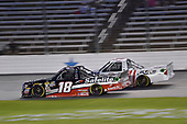 #18: Noah Gragson, Kyle Busch Motorsports, Toyota Tundra Safelite AutoGlass, #24: Justin Haley, GMS Racing, Chevrolet Silverado Fraternal Order Of Eagles