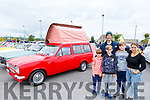 Gary Carroll , owner of the Ford Escort Mark 1 an Elba 1971 caravan with Ben, Patrick and Kyle Levy and Isabelle Urso at the Irish Ford Fair in Banna on Sunday.