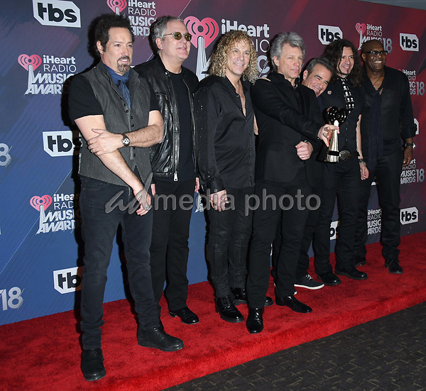 11 March 2018 - Inglewood, California - Bon Jovi. 2018 iHeart Radio Awards - Press Room held at The Forum. Photo Credit: Birdie Thompson/AdMedia