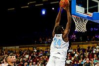 GRONINGEN - Basketbal, Donar - Apollo Amsterdam , Dutch Basketbal League, seizoen 2021-2022, 26-09-2021,  score van Donar speler Lotanna Nwogbo