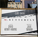 'M. Butterfly' - Theatre Marquee unveiling