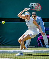 London, England, 5 th July, 2017, Tennis,  Wimbledon,   Donna Vekic (CRO) in action against Johanna Konta (GBR)<br /> Photo: Henk Koster/tennisimages.com