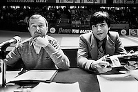 1982, ABN WTT, Speaker Wout Dijkhuizen en Peter Bonthuis(r)